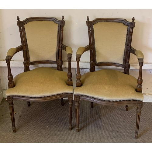 11 - Pair Of Vintage French Armchairs.