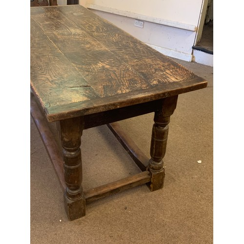 14 - Antique Oak Refectory Table With Peg Joints 185 x 79 x 80 cms