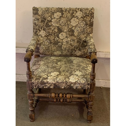 23 - Vintage French Upholstered Arm Chair