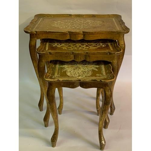 32 - Nest Of Gilt Wood Florentine Tables.