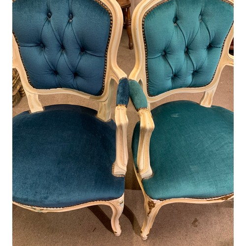38 - Matched Pair Of Louis Style Armchairs