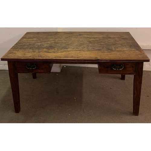 46 - Vintage Farmhouse Table Converted To A Desk With Drawers 160 x 89 x 78cms