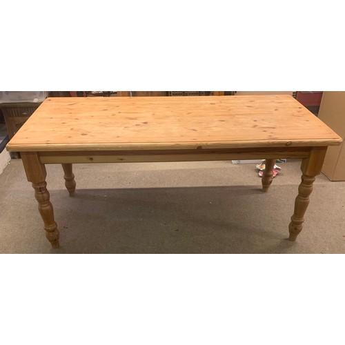 51 - Large Pine Farmhouse Table 183 x 93 x 78 cms