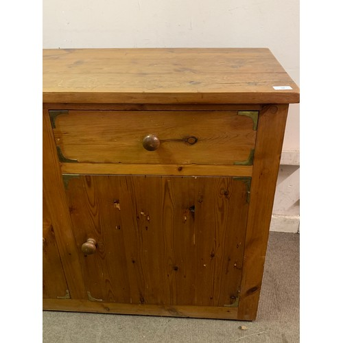 50 - Pine Campaign Style Sideboard Unit. 140 x 53 x 92 cms