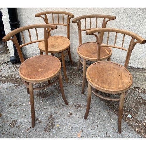 55 - Four Vintage Café Chairs