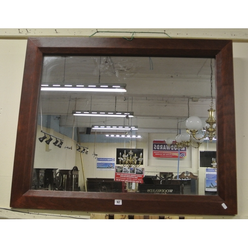 57 - Large timber framed wall mirror...