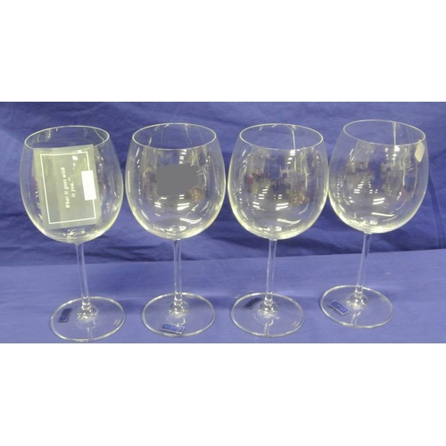 143 - Set of 4 Waterford crystal Marquis design tall stemmed wine goblets...