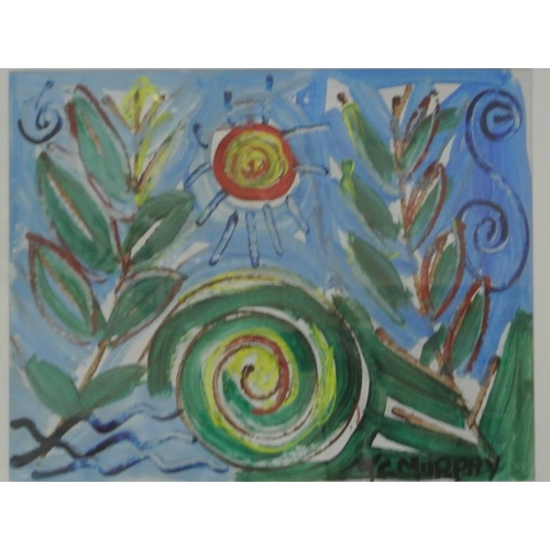 229 - TC Murphy 'Swirls' pastel 38 x 39 siged...