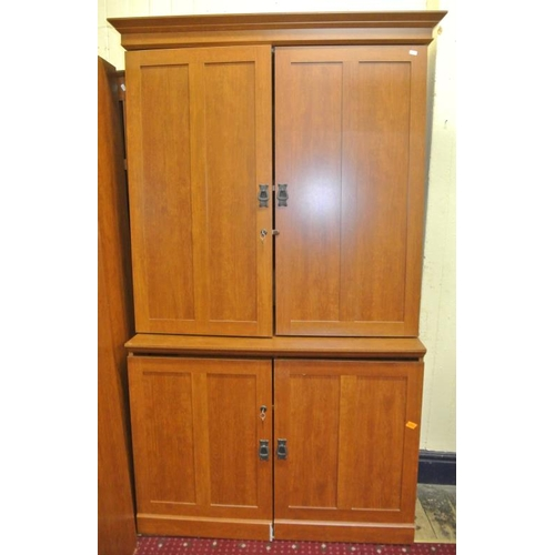 5 - American 'Souder' workstation / cabinet with numerous drawers and pull-out shelving...
