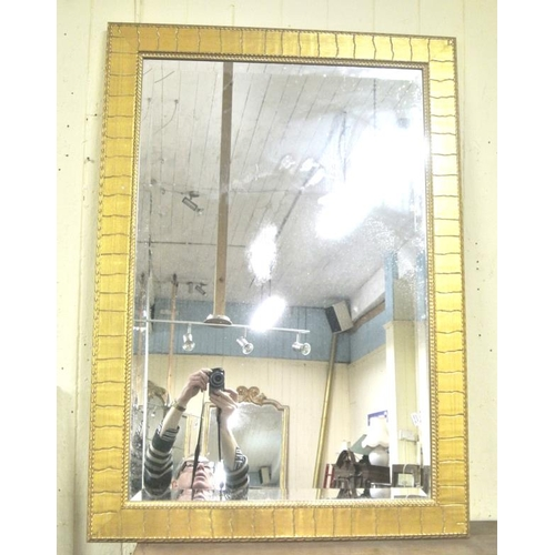 77 - Edwardian style gilt framed beveled glass mirror...