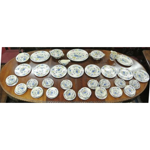 97 - 54 piece Masons Ironstone 'Ridgway' design dinner service with ornate foliate decoration...