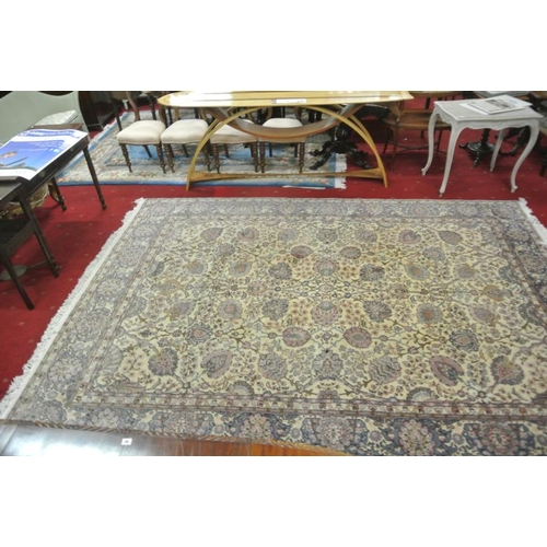 117 - Large floral decorated rug or carpet...