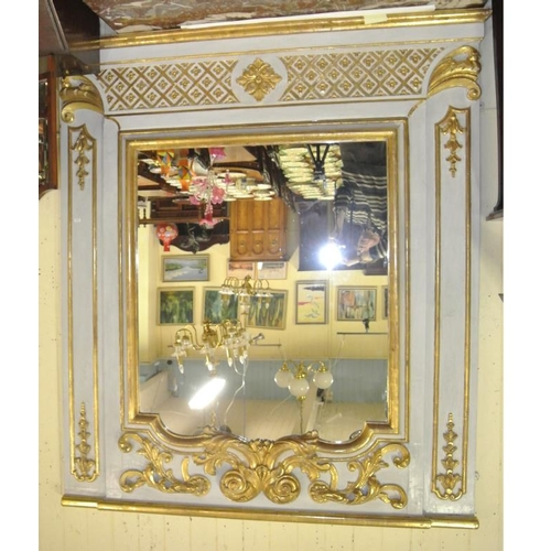 121 - Large barogue Dutch gilt framed overmantle mirror c 1700 with ornate gilt, scroll and foliate decora...
