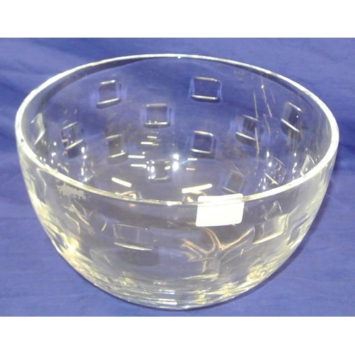 129 - Waterford cut glass John Rocha design fruit or flower bowl with panelled decoration...