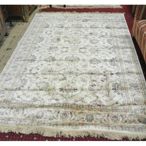 174 - Ivory ground Kashmir rug with Zeigler design...