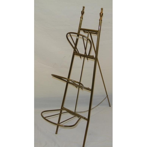 185 - Brass folding paper or book rack...