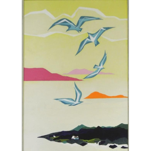 204 - Tadgh Lehane  'Jonathan Livingston Seagull' pastels  64 x 44cm signed and dated '72...