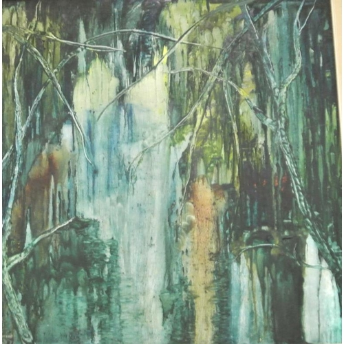 207 - Christine Fielding ' 'Forest scene' oil on board 59 x 59 signed...