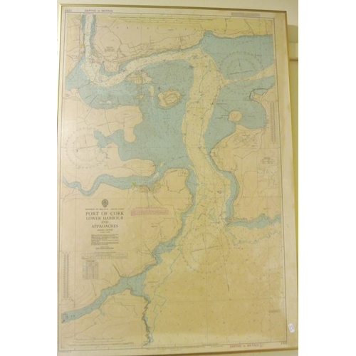 211 - Chart of Port of Cork lower harbor and approaches 105 x 70cm...