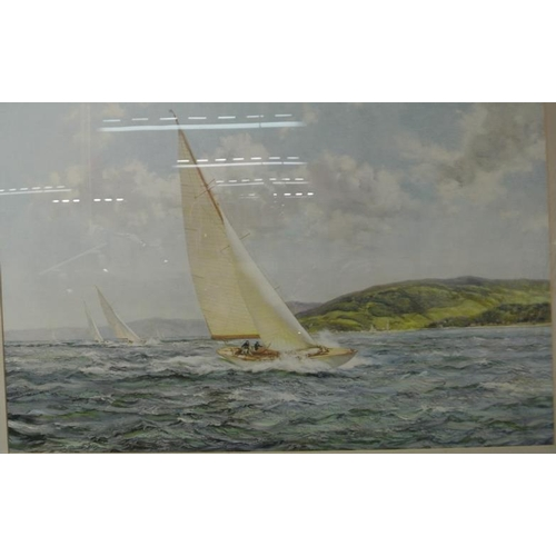 212 - Montague Dawson  'Racing wings'  print 50 x 75cm...