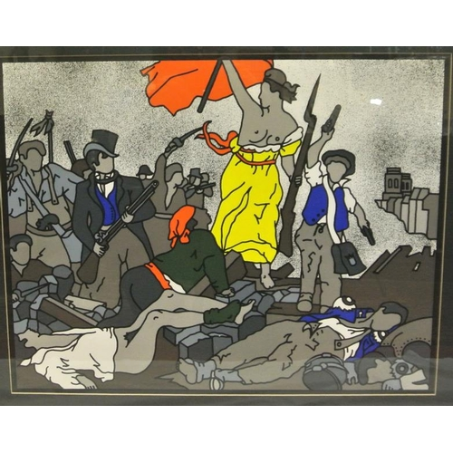 215 - Robert Ballagh  'Liberty on the barricades'  Limited Edition screen print Signed and dated 1951...