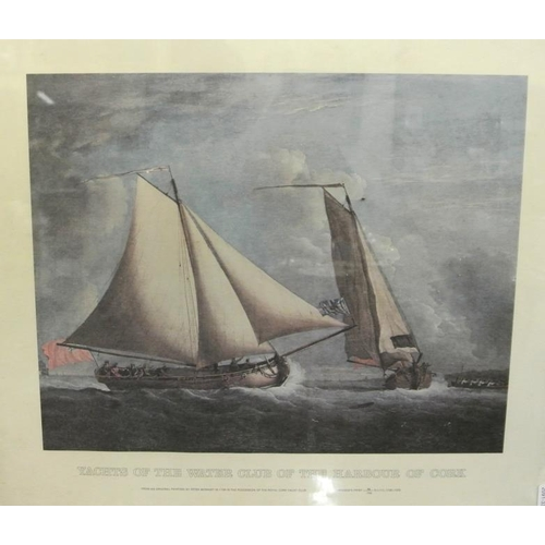 217 - Peter Monamy  'Yachts of the Water club of Cork'  Limited edition RCYC print...
