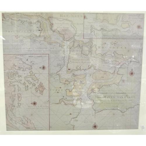 223 - Gerard van Keulen 'De Haven van Cork' Maritime chart 48 x 56...
