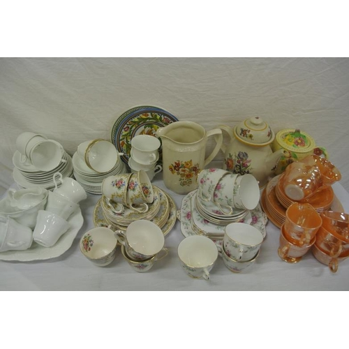 1 - Assorted lot of tea ware in box...