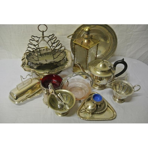 3 - Assorted lot of silver plated items, etc in box...