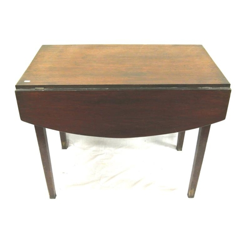 24 - Edwardian mahogany dropleaf table with frieze drawer, on square legs...