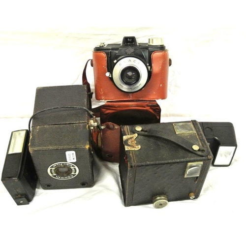 8 - Collection of old box cameras, etc...