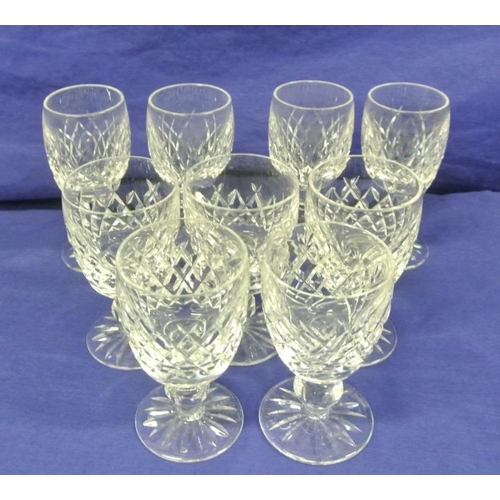 52 - Assorted lot of Waterford crystal port and sherry glasses