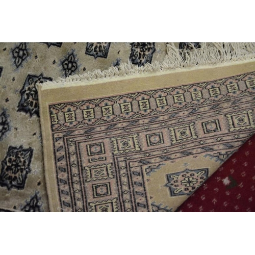18 - Iranian style hearth rug with panelled decoration 165x93cm
