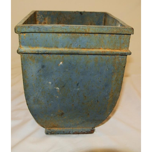 33 - Art Deco style cast iron planter with square base