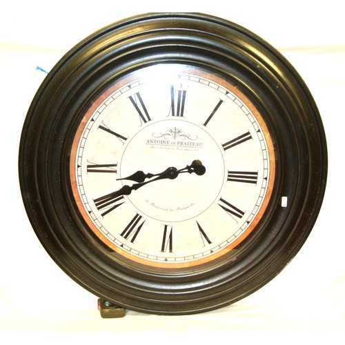 3 - Circular replica French wall clock 'Antione de Praiteau'