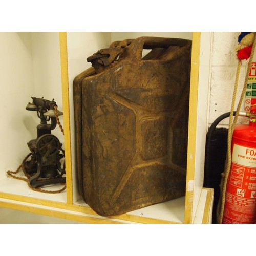 8 - A jerry can used in Normandy dated 1943...