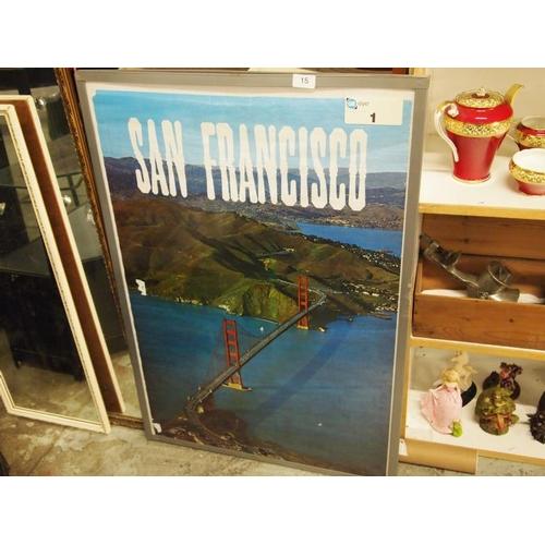15 - A rare San Francisco bridge poster...