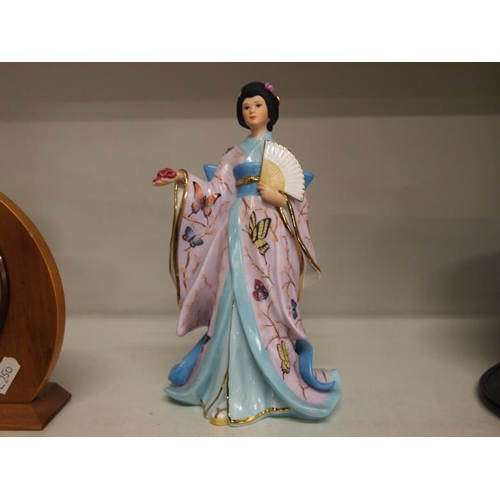 19 - The butterfly princess porcelain figurine by Adrian Hughes AF...