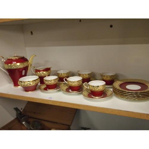 23 - Aynsley bone china tea set AF...