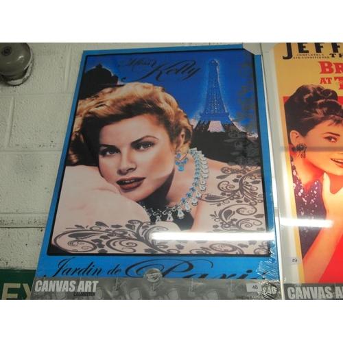 48 - Grace Kelly large canvas art print...