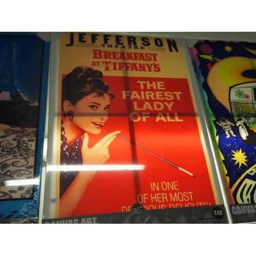 49 - Audrey Hepburn large canvas art print...
