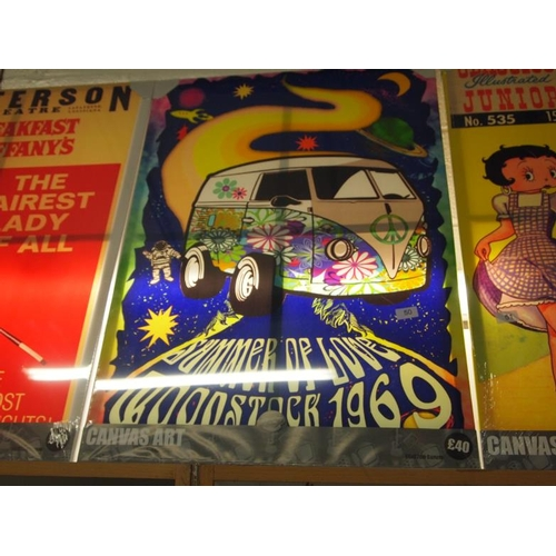 50 - Woodstock 1969 large canvas art print...