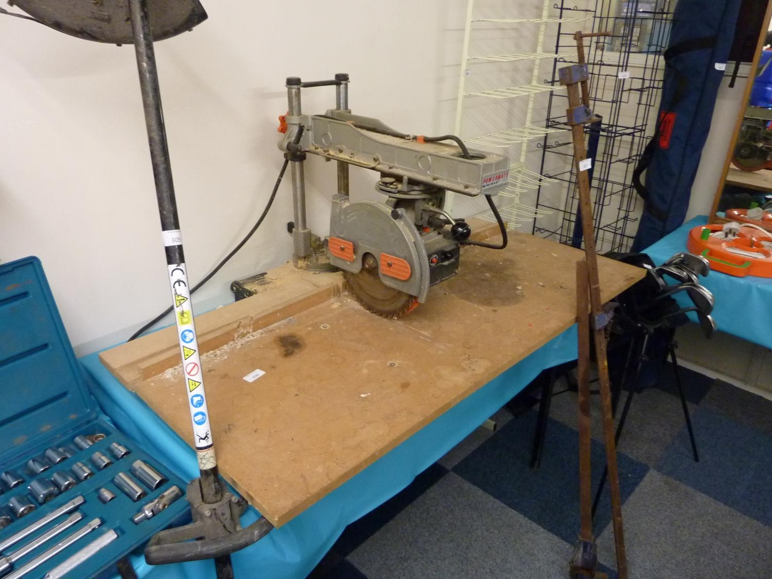 power mate 250 woodworker mini rad 240v radial arm power bench saw  1 1