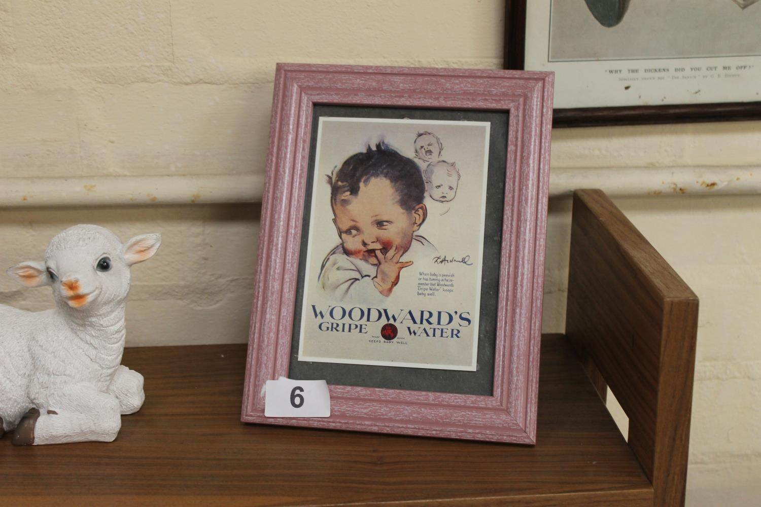 Small Framed And Glazed Woodwards Gripe Water Advertising Print 1