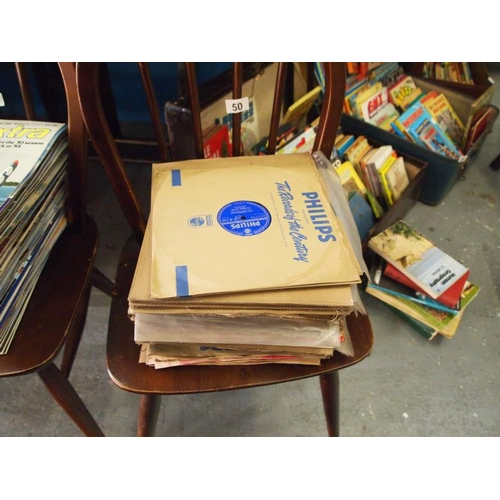 50 - Collection of vintage 78 RPM records...