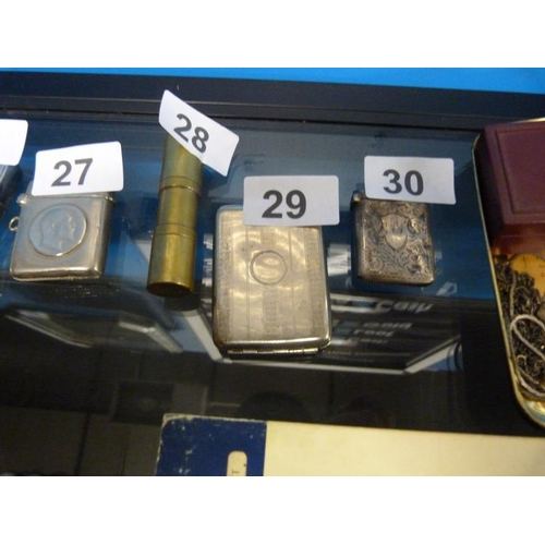 29 - Vintage metal cigarette holder circa 1940's...