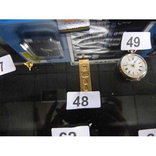 48 - 9 carat gold ingot bar from 1977 weighing in at 14 grams...