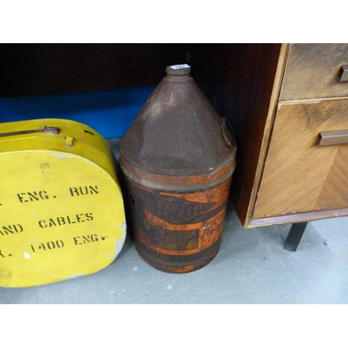 56 - Large vintage Motozol oil drum...
