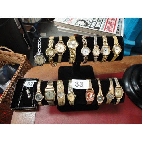 33 - Selection of 16 wristwatches-sold untested...