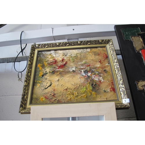 1 - Framed original mixed media painting by artist Terence Geary. Geary draws inspiration from his own w...
